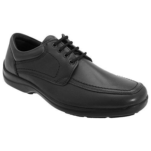 IMAC - Zapatos de Piel Modelo Panel Mudguard Hombre Caballero - Trabajo/Oficina (39 EUR) (Negro)