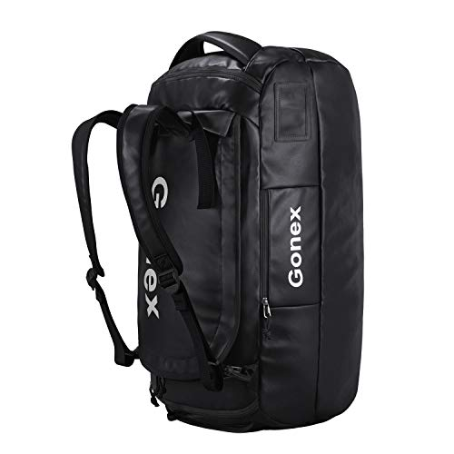 Gonex 80L Waterproof Duffle Holdall Bag Backpack Convertible Packable Travel Bag Duffel Bag for Hiking Camping Travelling Cycling for Men Women
