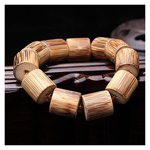 OCGDZ A lo Largo de Las líneas del Antiguo bambú Bamboo Barrel Gold con Incrustaciones pulidas pulverizas pulidas Pulseras bambú Canales Hombres wenwan (Color : See Chart)