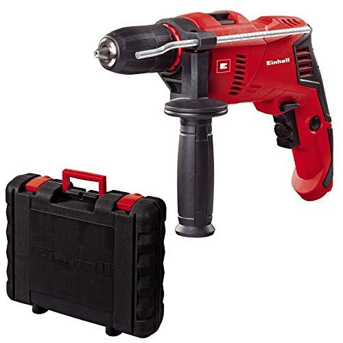 Einhell 4259610 Taladro PERCUTOR TE-ID 500 (Incluye maletin BMC), 550 W, 230 V, Negro, Rojo, 1