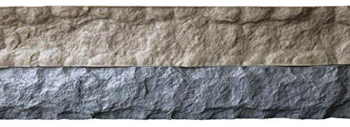 Stone Master Molds Chiseled Edge Concrete Countertop Edge Form Liner 8'x6'x2', Recycled Material