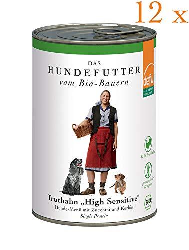 defu Vorteilspack Hund High Sensitive- Menü Truthahn getreidefrei 12 x 410 g