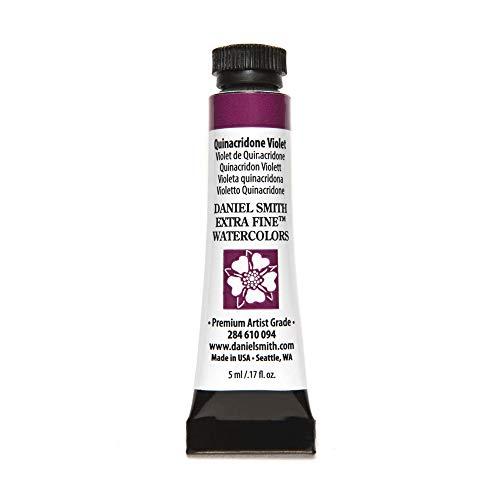 DANIEL SMITH 284610094 Extra Fine Watercolors Tube, 5ml, Quinacridone Violet