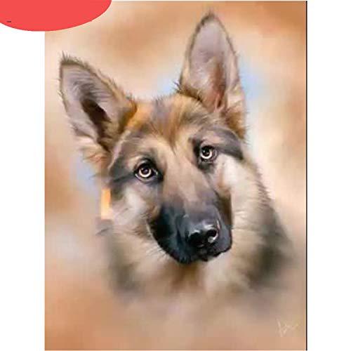 Stitch Puzzle, Juvenile Shoulder Perro Diamante Pintura Animal Bordado Punto De Cruz Cuadrado Completo Mosaico Imagen Artesanía Decoración Del Hogar-Cuadrado Completo 45X60cm