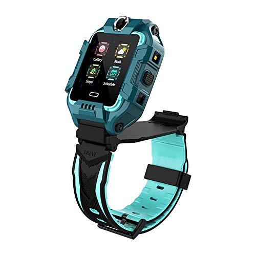 succeedw - Reloj inteligente para niños, resistente al agua, 4 G, WiFi, GPS, rastreador de actividad, SOS, video, chat, contador de pasos, compatible con teléfonos iOS 9.0, Android 5.0 (verde)