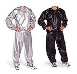 Bustini e corsetti PVC Tuta per Dimagrimento Tuta da Sauna Tuta Tuta Sportiva Tuta da Sauna per Donna Tuta da Ginnastica Dimagrante Anti Rip Fitness Giacca Sportiva YSJ (Color : Silver, Size : XXXL)