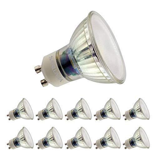 Sanlumia Lampadine LED GU10 9W, Equivalenti a Lampadine Alogene da 100 Watt, 845lm, Luce Bianca Calda 3000K, Angolo del Fascio di 110 Gradi, Non-Dimmerabile, Confezione da 10