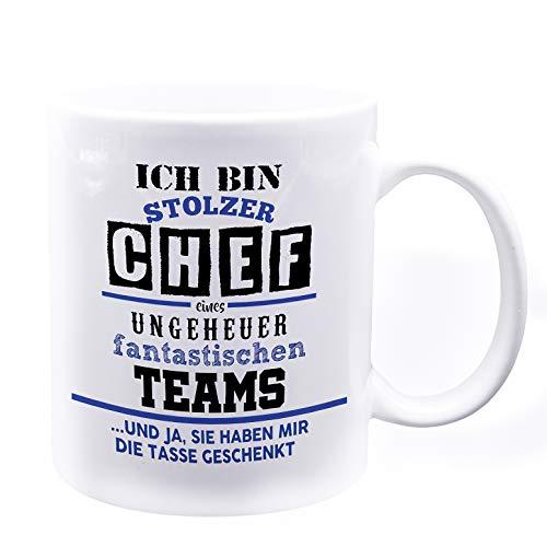 Stolzer Chef • Lustige Tasse mit Spruch • Kaffeetasse Teetasse mit Sprüchen • Mug Cup Becher • Büro Home-Office • Ideales Geschenk • Kollegen und Chefs • Keramik Funtassen mit Henkel