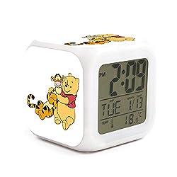 xinjinmaoyi Stylish Non-Ticking Extra Large Display Desktop Alarm Clock for Kids Room Helpful for Children