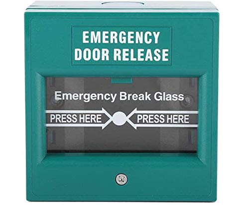 Interruptor de la puerta de salida de emergencia, botón de alarma de incendio, interruptor de acceso a la seguridad del hogar, interruptor de encendido de la puerta de vidrio, verde