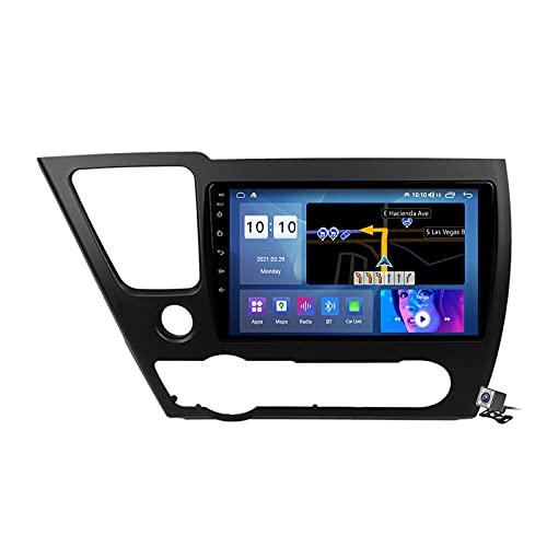 Buladala Android 9.1 GPS Navigation Stereo Radio para Honda Civic 4d 9 2013-2016, 9' Pantalla Coche Media Player Soporte Carpaly Android Auto/5G FM RDS/Control Volante/BT Hands-Free,M300s