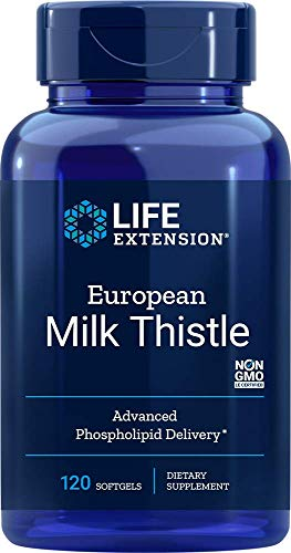 Life Extension European Milk Thistle-Advanced Phospholipid Delivery, 120 Softgels