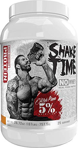 Rich Piana 5% Nutrition Shake Time | No-Whey 26G Animal Based Protein Drink | Grass-Fed Beef, Chicken, Whole Egg | No Sugar, Dairy, or Soy (Vanilla Cinnamon)