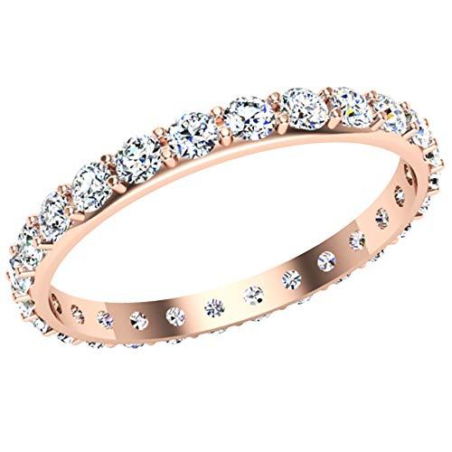 Anillo de diamantes de 14 quilates con certificación IGI/IGLI de 0,78 quilates (color HI, claridad I1-I2) para mujeres y niñas de Dishis Designer Jewellery 5
