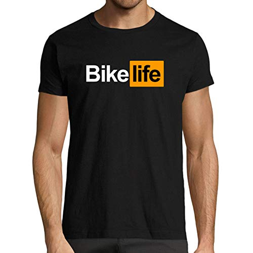 T-Shirt Premium Noir Bike Life idée Cadeau Motard (XL)
