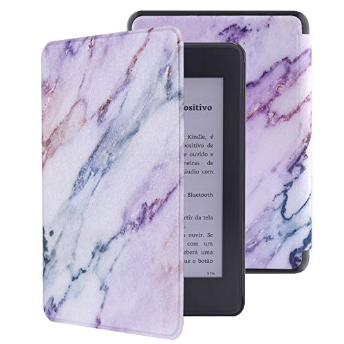 Vimorco Kindle Paperwhite Case 2018 Release for 10th Generation, Premium Lightweight Pu Leather Cover with Auto Sleep/Wake for Amazon Kindle Paperwhite E-Reader (Pink Marble)
