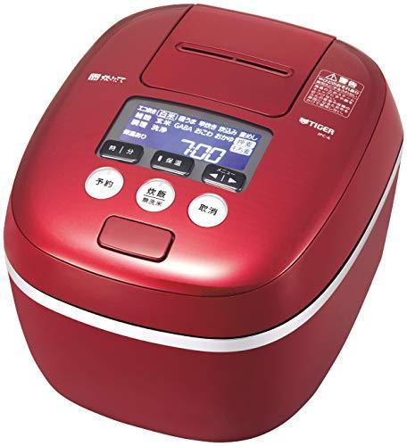 タイガー 炊飯器 5.5合 圧力IH 土鍋コーティング 極うま機能付き 炊きたて カーマインレッド JPC-A101-RC