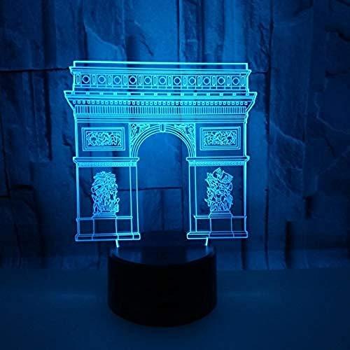 Luz Nocturna 3D De Arco Del Triunfo Lámpara De Ilusión Óptica 20 Cambio De Color Con Control De Bluetooth Y Toque Inteligente Lámpara De Mesa Para Decoración Regalo Para Niños