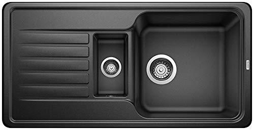 Blanco Favos 6 S, Küchenspüle aus Silgranit, Anthrazit-schwarz, reversibel / mit 3 1/2