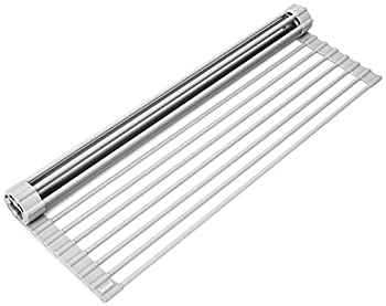 Surpahs Over The Sink Multipurpose Roll-Up Dish Drying Rack  Warm Gray Large - 20.5  x 13.1