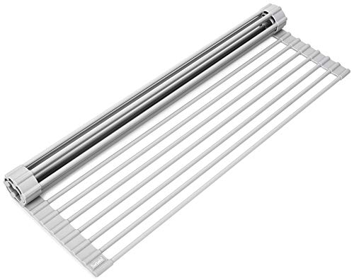 Surpahs Over-the-Sink Multipurpose Roll-Up Dish Drying Rack