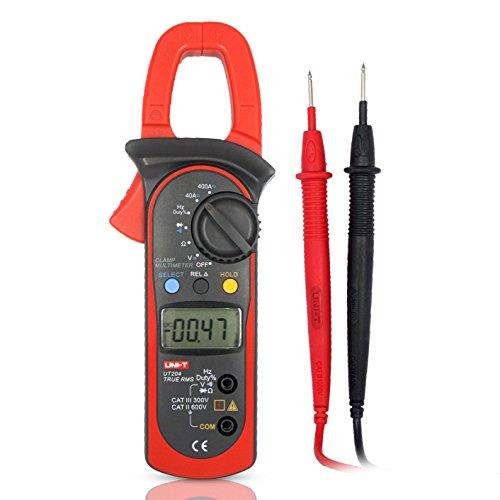 UNI-T UT204 400A DC/AC Medidores de Pinza Multímetro Digital, Capacitancia, Frecuencia, Resistencia Auto Range 600 V Tensión Continuidad Zumbador