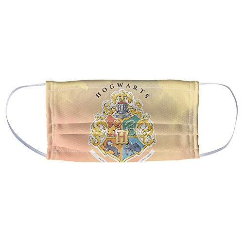 Harry Potter Hogwarts Watercolor Sigil 1-Ply Reusable Face Mask Covering, Unisex