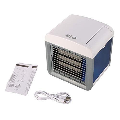 YQ&TL Climatiseurs Portables Refroidisseur d'air Ventilateur Colonne Portable Air Cooling Fan Office Household USB Air Conditioner Humidifier Purifier Desktop Air Conditioning Fan