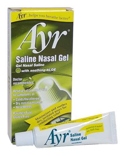 Ayr Saline Nasal Gel, With Soothing Aloe, 0.5 Ounce Tube