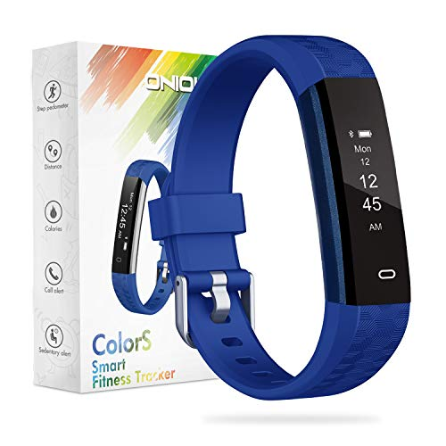 Kids Fitness Tracker, ONIOU Waterproof Activity Tracker Watch for Children, Pedometer Watch Calorie Step Counter for Boys Girls, Customized Exclusive for Children, Blue