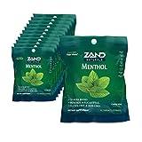 Zand Immunity Menthol HerbaLozenge Cough Drops | Peppermint, Eucalyptus, Herb Blend | No Corn Syrup (12 Bags, 15 Lozenges)