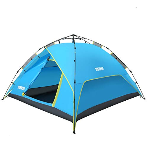 Dohiker Large 3-4 Person Pop Up Tent, Family Camping Tents, Backpack Tents, Automatic Pop Up Beach Tent Instant Portable Quick Cabana Sun Shelter,Water Resistant, Ventilated and Durable