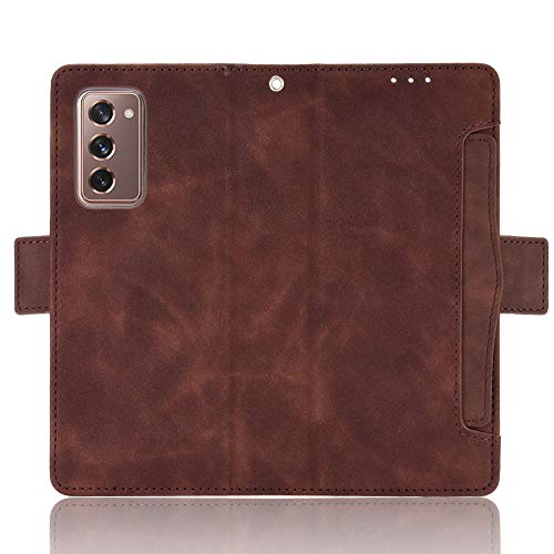 TingYR Hülle für Samsung Galaxy Z Fold 2 5G Schutzhülle, Handyhüllen Flip Hülle Wallet Stylish mit Standfunktion & Magnetisch PU Tasche Schutzhülle.(Braun)