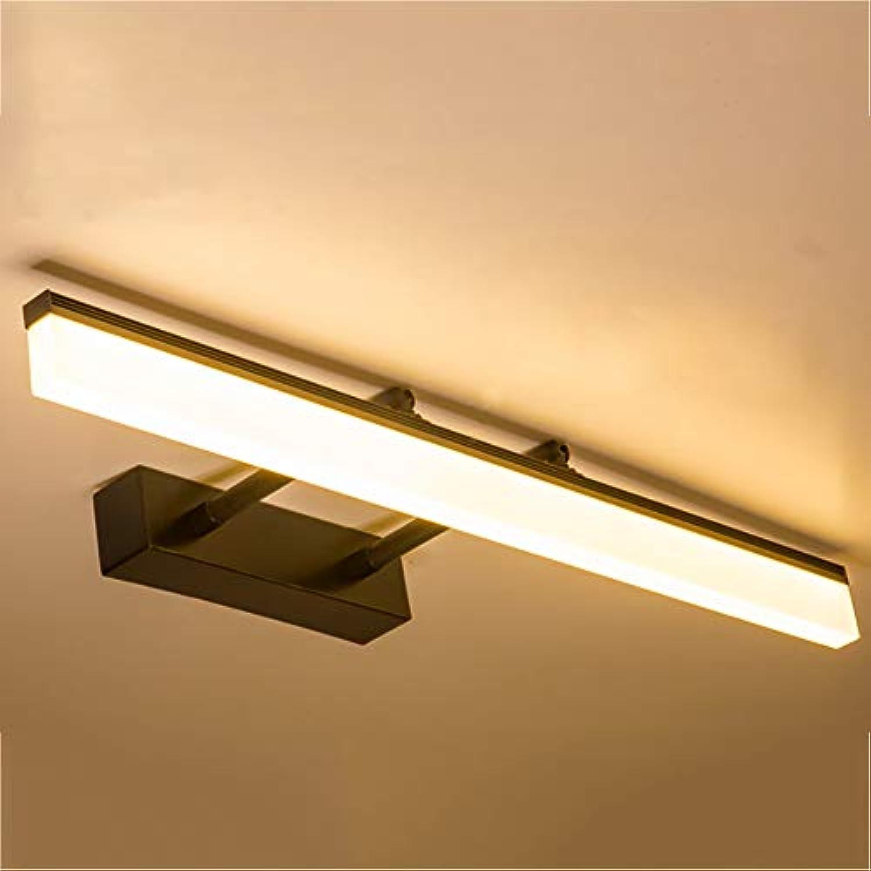 CANCUI Modernen LED Spiegel Wandlampe, Stellbar Wasserdicht Persnlichkeit Design Spiegel-leuchte Für Schminktisch Wandleuchte Schwarz 20-Warmes Licht D 100x20cm(39x8inch)