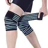 Vendaje elástico de compresión para rodilla, levantamiento de pesas, sentadillas, fitness,...