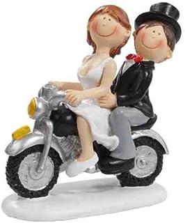 Hochzeit Dekoration Figurine jeunes mariés sur moto Idéale pour décorer tables gâteaux et pièces montées