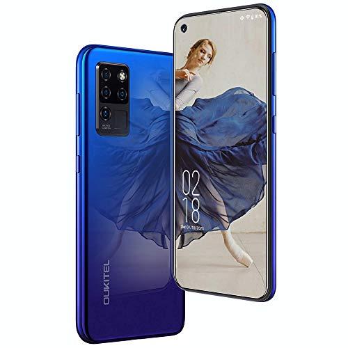 Cellulari offerte, Smartphone Offerta Oukitel C21 4G, display FHD + da 6,4 pollici Fotocamera posteriore quadrupla da 16 MP 4GB+64GB 4000 mAH Telefono cellulare Android 10 con Face ID, Blu