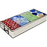 Ziz Home Zippered Under Bed Storage Bag (1, 2, 3 Pack) Soft Breathable Anti-Mold Fabric | Underbed Clothes Storage, Linen Blanket Storage, Sweater Storage, Duvet Storage Bins Clear Window (1)