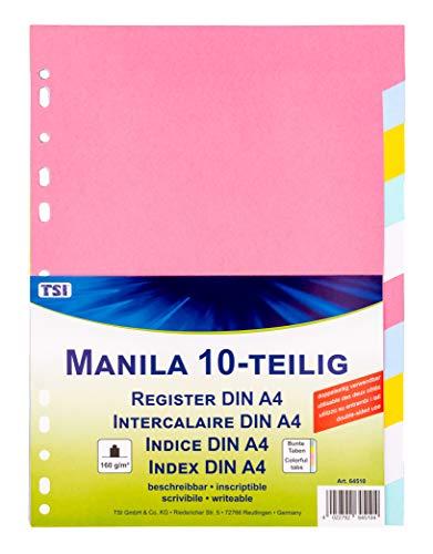 TSI 64510 Register aus stabilem Manila-Karton 10-teilig, Taben