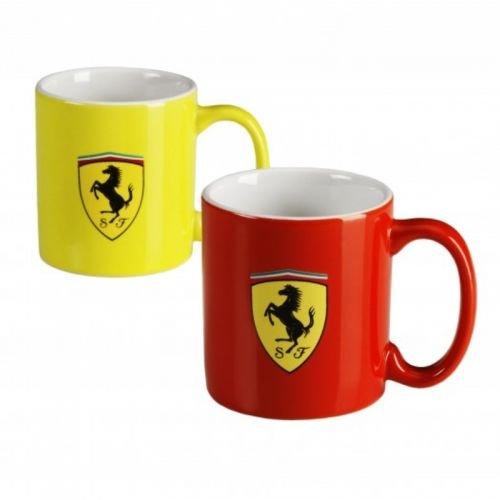 Ferrari Mug Tassen Set Scudetto rot gelb Scuderia Logo