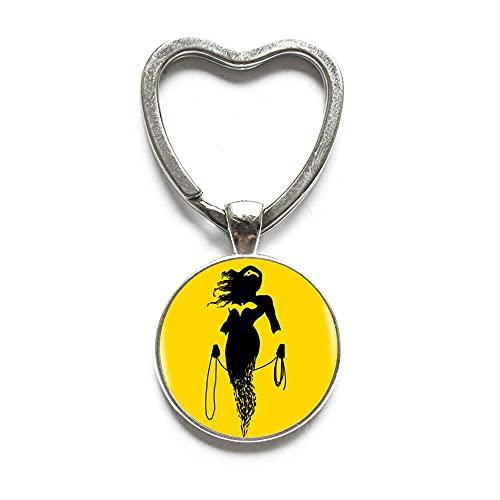 Llavero de cristal de la mujer llavero de la joyería fina de la moda para las mujeres de la joyería hecha a mano de la joyería de la manera-#368