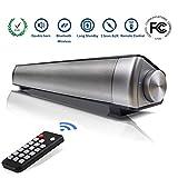 Drahtlose Bluetooth Soudbar Lautsprecher-LP-08 Kanal 2.0 Bluetooth 4.0 TV Sound bar 10w Stereo - Lautsprecher mit klaren Eingebaute Subwoofer Fernbedienung/AUX/TF Karte/USB (Schwarz)