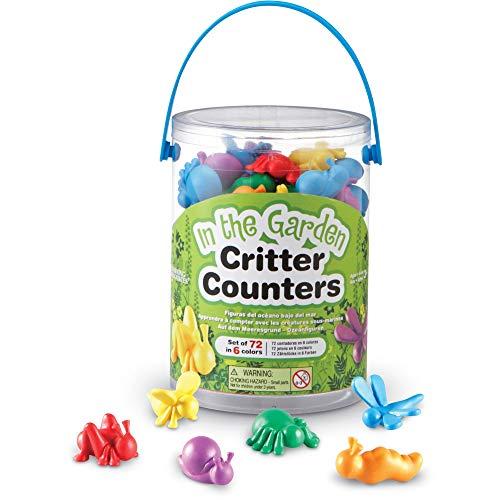 Learning Resources- Figuras de Insectos del jardín In The Garden Bug Counters, Cubo de 72, Color (LER3381) , color, modelo surtido