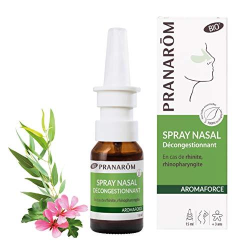 Pranarôm | Aromaforce | Spray Nasal Décongestionnant Bio (Eco)|Composé d'Huiles Essentielles Pures et Naturelles|15 ml