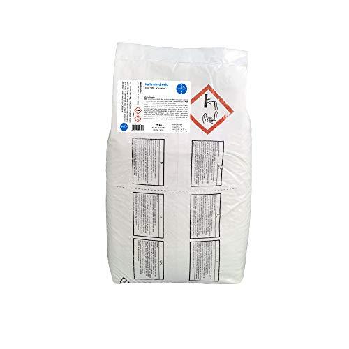 Kaliumhydroxid, Ätzkali >90%, Schuppen, rein I 1 x 25 kg I HERRLAN Qualität I Made in Germany