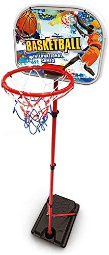 SONGYU-Basketball-Ständer Kinder Einstellbare Protable Basketball Set Einstellbare Höhe Mit Ball & Net Mobile Basketball Standplatz for Kinder Juniors Basketballkorb
