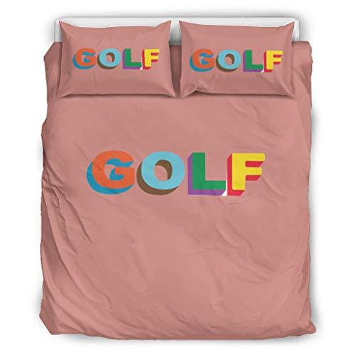 O2ECH-8 Golf gefärbt Tagesdecke Bettwäsche-Set Hotel Luxury 3er-Set Bettbezüge - Golf-Enthusiasten Weich und Bequem Bohemia Bettwäscheset white4 229x229cm