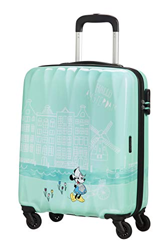 American Tourister Disney Legends Spinner S Valigia per Bambini, 55 cm, 36 L, Turchese (Take Me Away Minnie Amsterdam)