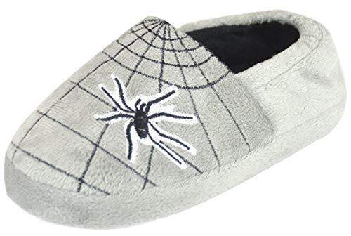 Jungen Spinne und Web Plüsch Volle Hausschuhe - Grau EUR 35-36