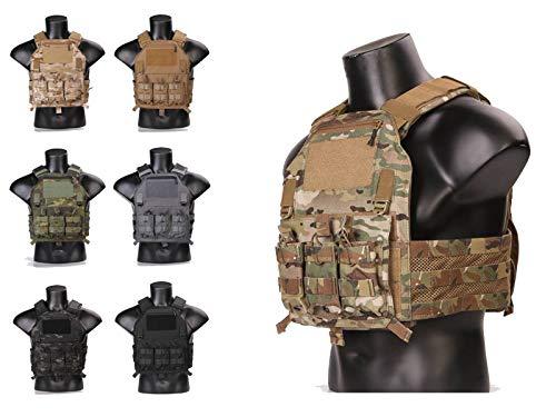 420 Porte Plat Veste Tactique Militaire de Photos en Plein air Molle Combat Gilet de 420 Emerson (Multicam)